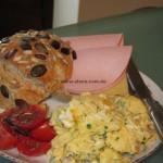 Super schnelle Vollkorn-Weizenmehl-Frühstücksbrötchen