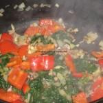 Polpette al pomodoro con ricotta tortellini e spinaci