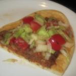 unsere türkische Pizza / Lahmacun