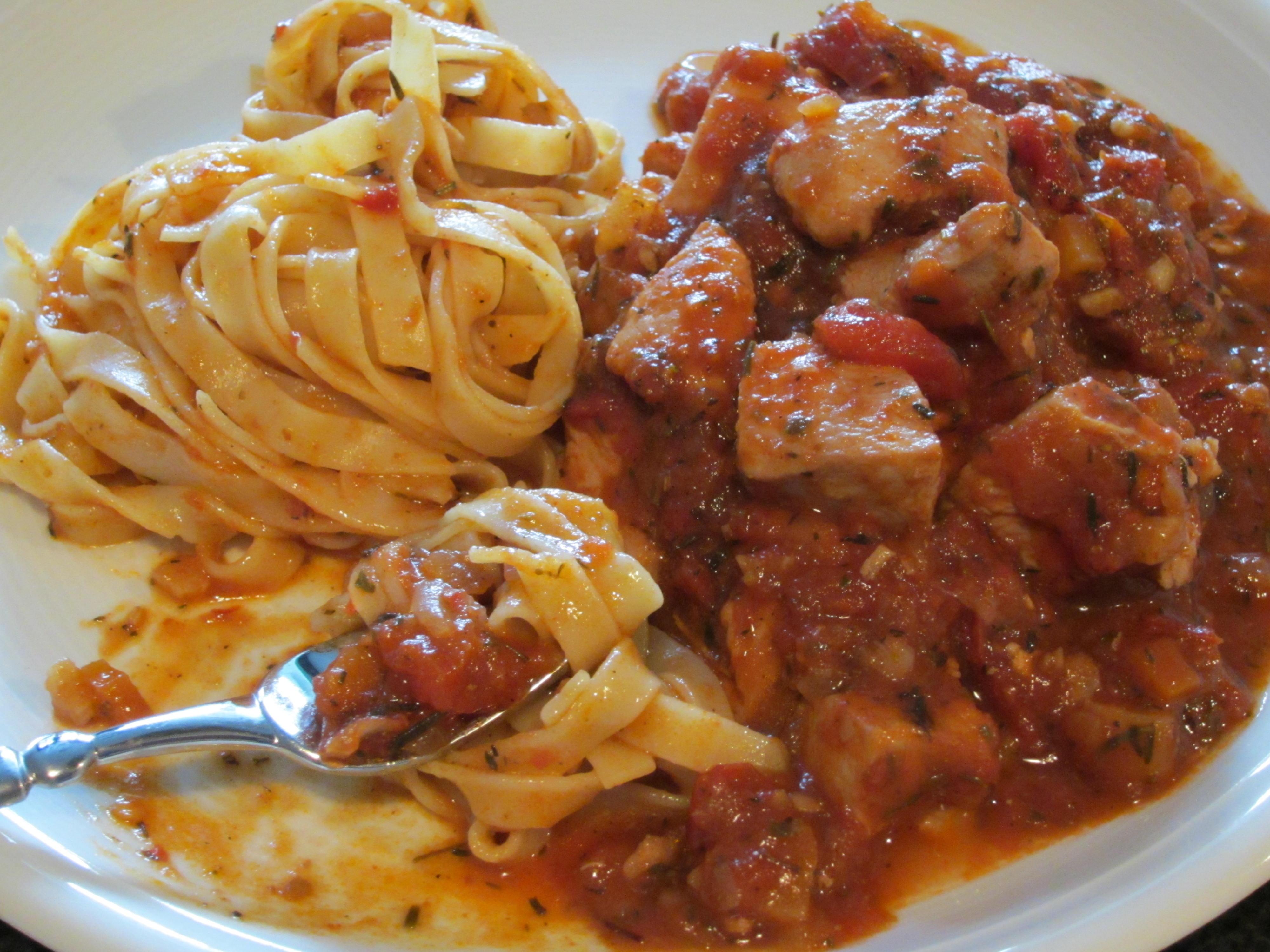 Schnelles spezzatino di pollo kochen backen leicht for Schnelles abendessen