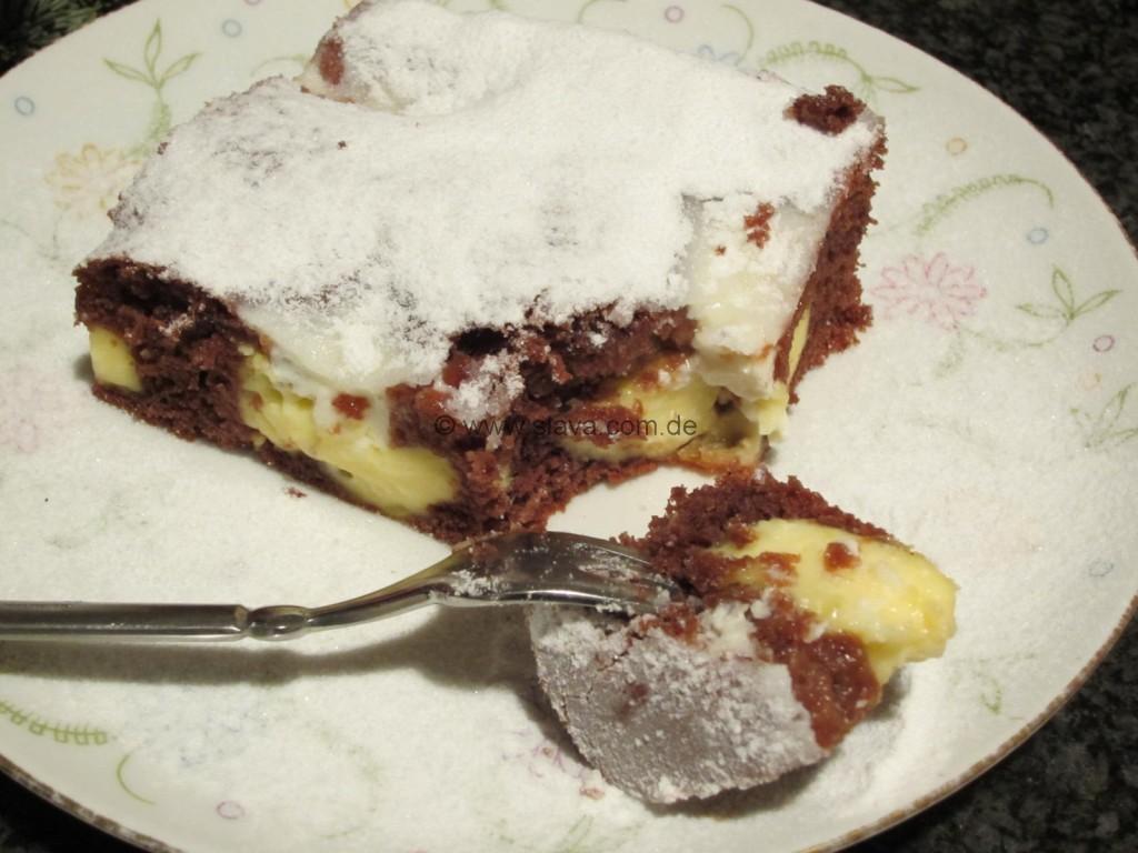 Kuchen P: Schneller Schoko-Pudding-Kleckskuchen