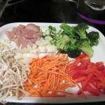 Garnelen-Hähnchen Chow Mein