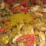 schnelles Curry-Reis-Hähnchen aus dem Ofen