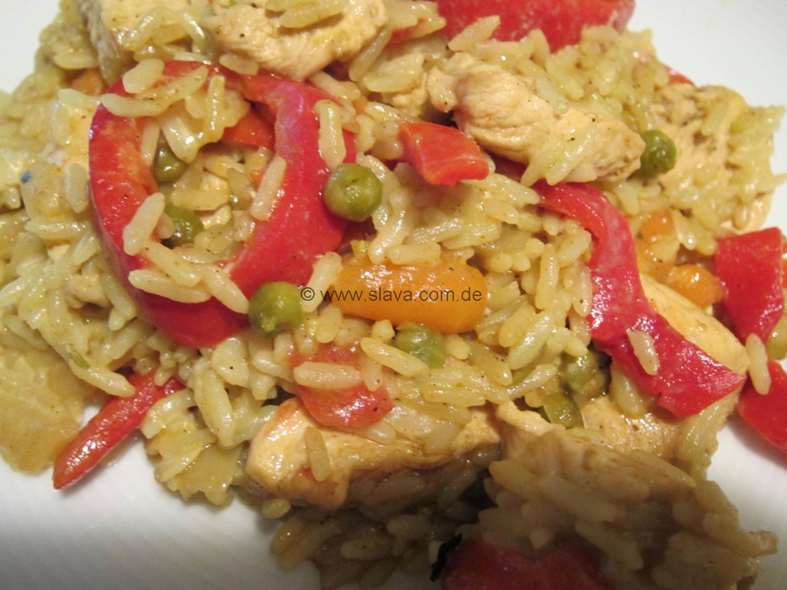Schnelles Curry Reis Hähnchen Aus Dem Ofen Kochen Backen Leicht