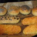 fluffige Käse-Körner-Brötchen/Stangen