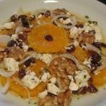 schneller fruchtiger Orangensalat mit Ziegenkäse