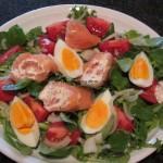 Slavas Ruck-Zuck Lachs-Röllchen-Salat