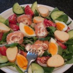 Slavas Ruck-Zuck Lachs-Roellchen-Salat