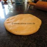 schnelle Pudding-Obst-Streusel-Teilchen