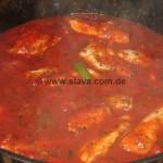 Pollo - Farfalle - peperoni e salsa di pomodori