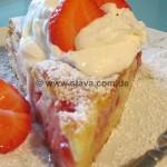 Schneller Erdbeer-Pudding-Kleckskuchen