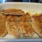 zarte Haehnchen-Schnitzelchen aus dem Ofen