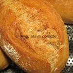 Weizenbrötchen mit Sauerteig