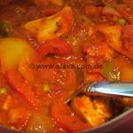 Hähnchengeschnetzeltes an Ajvar-Paprika-Sauce  All-in-One