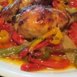 Fein Geschmorte Balkan-Paprika-Hähnchenschenkel