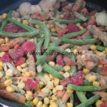 Saftiges Kotelett an Gemüse-Provence-Pfanne