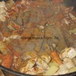 Hähnchenragout an Weisswein-Kartoffel-Karottengemüse