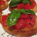 Bruschetta Caprese und al Pomodoro