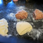 Gemusterte Schoko - Croissants
