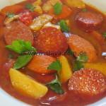 Pikantes Paprikas mit Chorizo und Cabanossi
