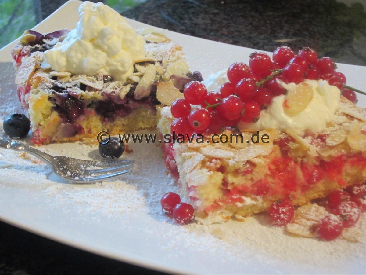 Fruchtige Vanille-Schnitten