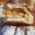 Fluffige Backofen-Schmalzkissen & Hörnchen mit Apfel-Zimtfüllung