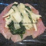 Würzig gefüllte Hähnchenbrustfilets mit Spinat- Käsefüllung