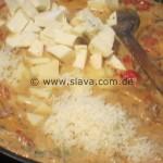 Pikante Hähnchenpfanne ala Manfredo in einer 3erlei sahnigen Käsesoße