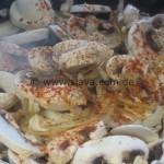 Überbackenes Zwiebel-Pilz-Hähnchen