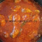 Geschmorte Hähnchenkeulen an Rotwein-Tomatensoße