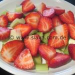 Schnelle zarte Rhabarber-Erdbeer-Küchlein
