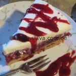 Schnelle saftige Schoko-Kirsch-Nuss-Torte/Kuchen mit Häubchen