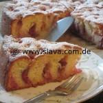 Feiner  saftiger Pflaumen - Zwetschgen - Joghurtkuchen 6