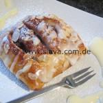 schnelle softe Apfel - Kirsch - Mohn - Puddingteilchen/taschen