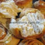 Pikant gefüllte Butterschnecken