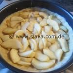Rahmkuchen mit Zimtäpfeln