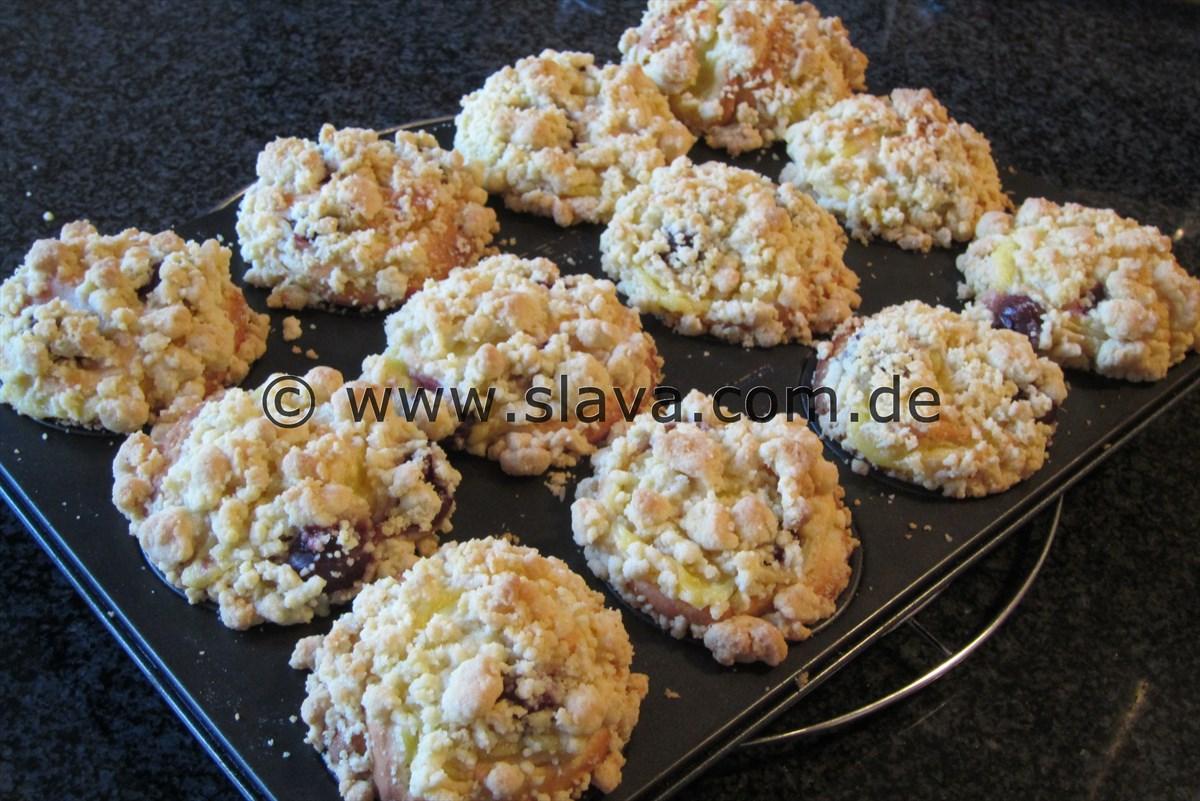 streuselschnecken muffins gef llt mit pudding kochen backen leicht gemacht mit schritt f r. Black Bedroom Furniture Sets. Home Design Ideas