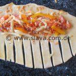 Schnelle Herzhafte - Pizza-Stangen / Schnecken zum snacken