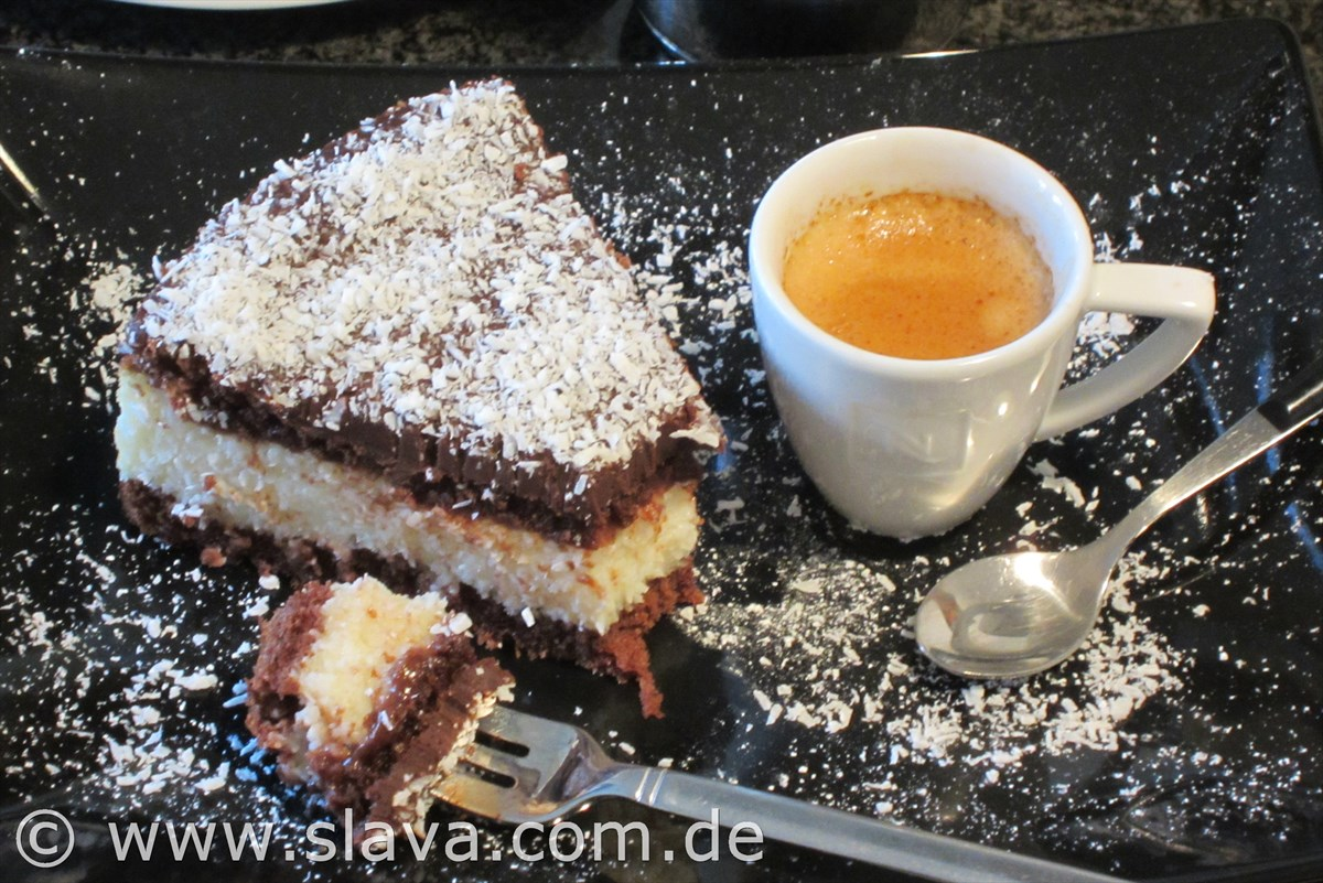 All In One Schoko Kokos Torte Mit Einem Ganache Guss Kochen
