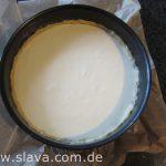 Cremiger Ruckzuck Käsekuchen mit Rhabarberguss