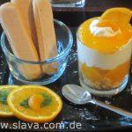 Sommerlich: Fruchtige Mandarinencreme mit Fruchtspiegel