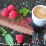 No Bake Chocolate – Mousse – Cheesecake mit Schokoladenkeks  Boden