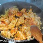 Würzige Knoblauch-Chicken-Pastapfanne mit leichter Schärfe