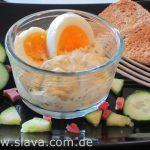 Slavas leichter und cremiger Eiersalat