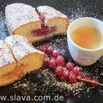 Schneller & saftiger Joghurtkuchen mit Marmeladenfüllung