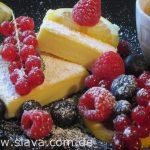 Fruchtige Ricotta-Schnitten